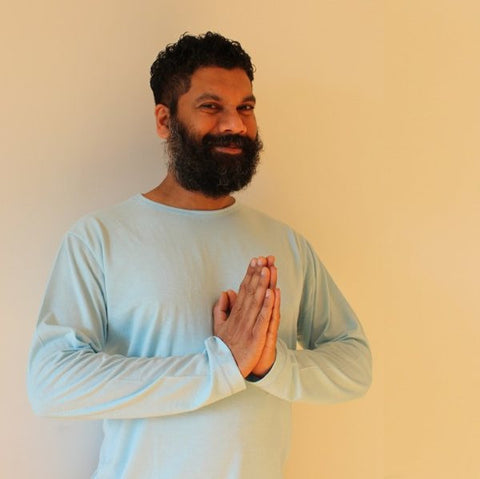 "Bamboo Long-Sleeved T-Shirts for Men<br>Pictured here: Premadasa of <a href=""http://playuyoga.com"" target=""_blank"">Pure Life Ayur Yoga (PLAY)</a> in Toronto, Ontario"