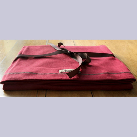Bamboo Savasana Blanket / Wrap <br>colour: Burgundy