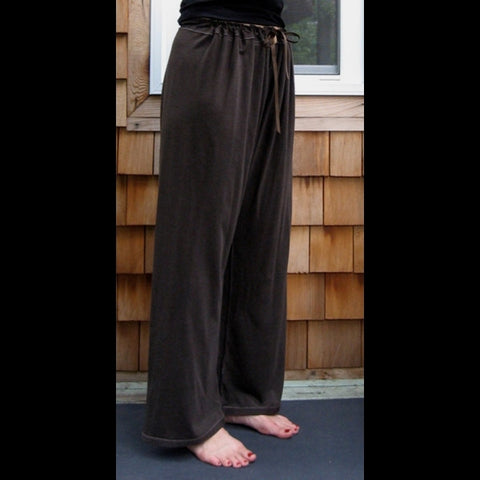 Bamboo Dream Pants: Loose-Fitting Yoga Pants for Women in Chocolate Brown, Length 2
