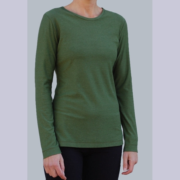 Bamboo light weight long sleeved t shirts for women dear for Lightweight long sleeve shirts women s