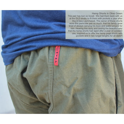 Hemp Streetwear Shorts with Pockets for Men