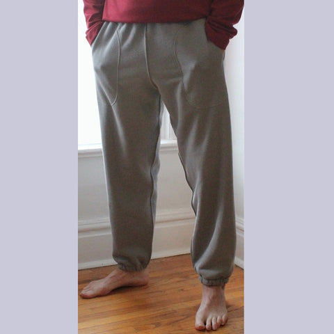 Sherpa Fleece Classic Track Pants for Men in Pale Ash