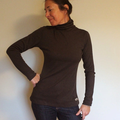 Bamboo Turtlenecks for Women in Chocolate Brown (Chocolate Brown is Sold-Out, sorry!)