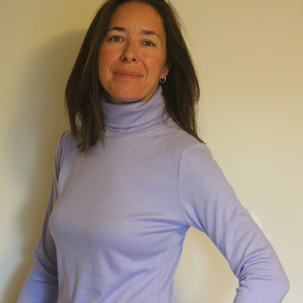 Bamboo Turtlenecks for Women in Lilac