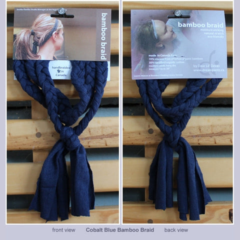 Braided Bamboo Headband in their packaging (front and back)