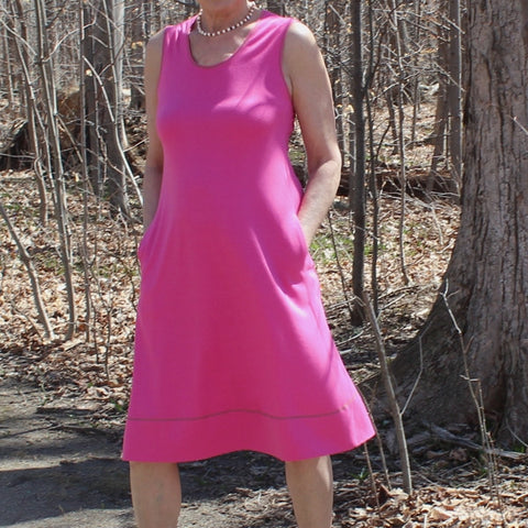 Bamboo Dress in Wild Rose (Wild Rose is Sold-Out, sorry!)
