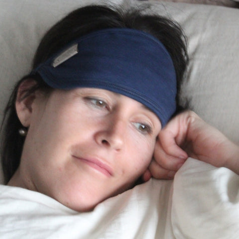 Blissfully Dark Sleep Mask in Cobalt Blue