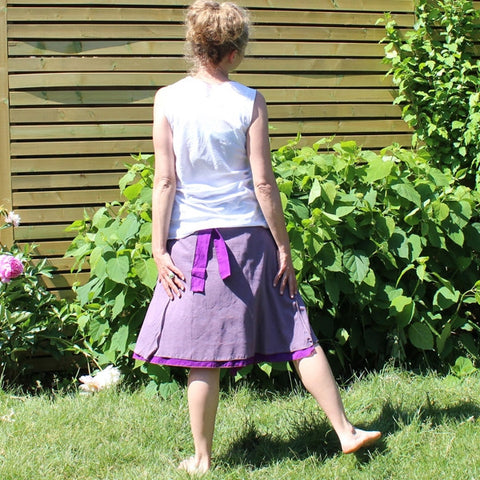 Clearance: GRAPE Lightest Cotton Wrap Skirts