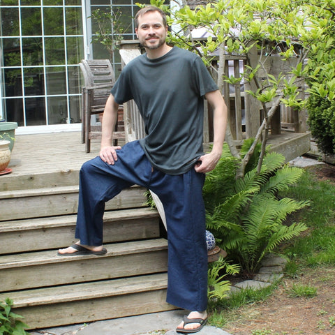 Denim Dream Pants: Loose-Fitting Yoga Pants for Men