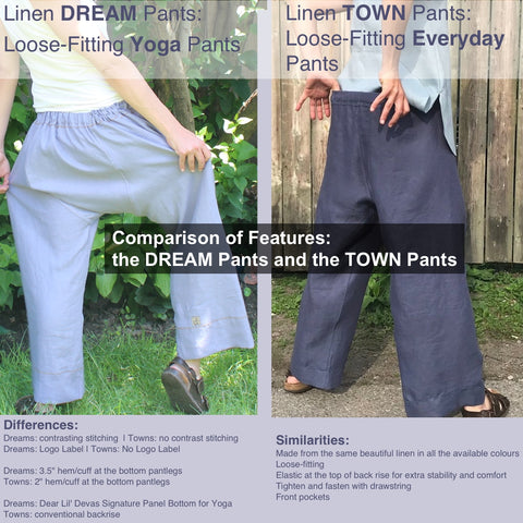Similarities and Differences: Dear Lil' Devas Town Pants and Dear Lil' Devas Dream Pants