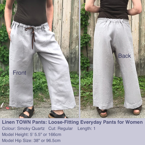 Linen TOWN Pants: Loose-Fitting Everyday Pants for Women