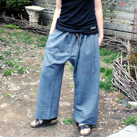 Denim Dream Pants: Loose-Fitting Yoga Pants for Women
