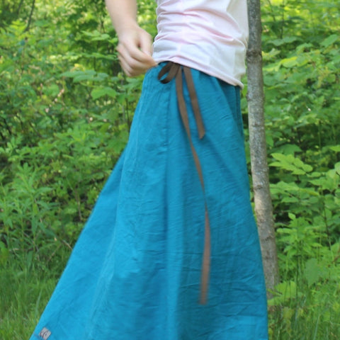Cotton Long Skirts in Teal