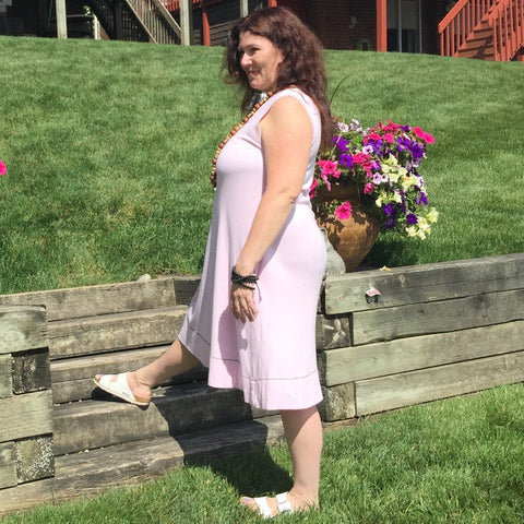 "Bamboo Dress in Pale Pink<br>Photo taken at <a href=""http://www.professorslakeyoga.com"" target=""_blank"">Professor's Lake Yoga </a>in Brampton, Canada<br>Model is Terri Wyllie :-)"