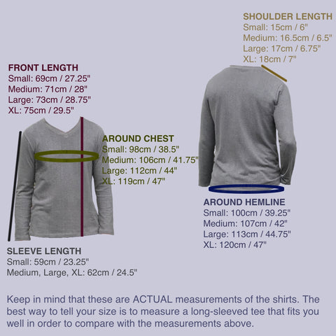 Hemp Long Sleeved Thick Jersey Knit V-Necked Shirts for Men