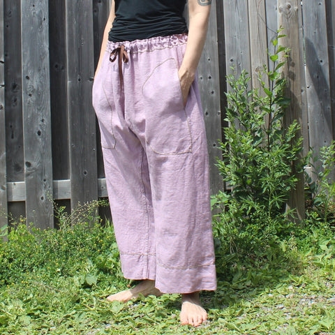 Thicker Linen Dream Pants: Loose-Fitting Yoga Pants for Women