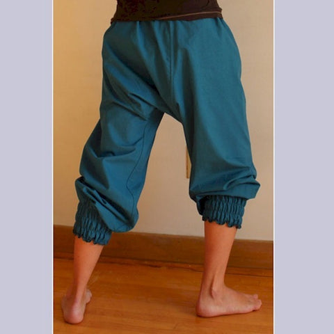 Thicker Cotton Dream Pants: Loose-Fitting Yoga Pants for Women<br>Colour: Teal, Bottom Pantleg Choice: Length 2 as Bloomers