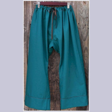 Thicker Cotton Dream Pants: Loose-Fitting Yoga Pants for Women<br>Colour: Teal, Bottom Pantleg Choice: Length 1 with Cuff