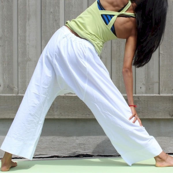 "Thicker Cotton Dream Pants: Loose-Fitting Yoga Pants for Women<br>Pictured here: Aarti of <a href=""http://www.yogaasitis.com"" target=""_blank"">Yoga As It Is Centre </a>in Newmarket, Ontario"