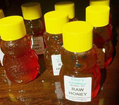 Baby Bear Honey Jar filled with South Carolina Raw Honey