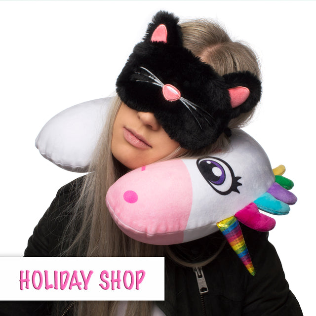 holiday accessories travel pillow sleeping mask