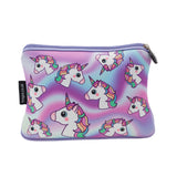 Large Printed Pencil Case - Hologram Unicorns