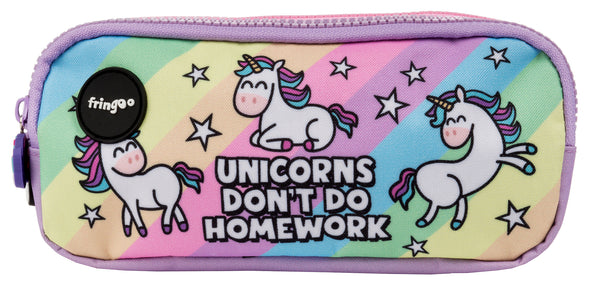 Unicorn & Homework Pencil Case