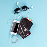 Passport Holder - Black Marble