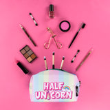 Half & Half Pencil Case/Make Up Bag