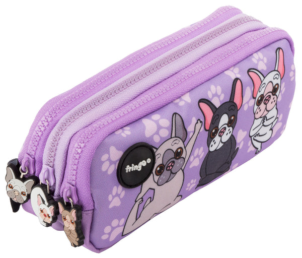Frenchie Yoga Pencil Case