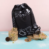 Customised Drawstring Bag - Monochrome Boy