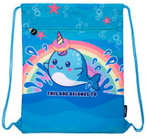 Customised Drawstring Bag -Narwhal