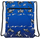 Customised Drawstring Bag - Shark Bones