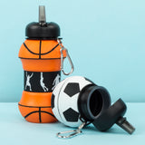 Silicone Bottle - Basketball