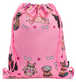 Customised Drawstring Bag - Frenchie