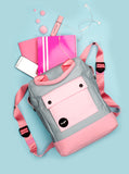 Pink and Grey Teen Backpack