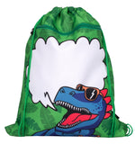 Customised Drawstring Bag - Dinosaur Team
