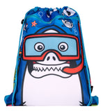 Customised Drawstring Bag - Shark Diver