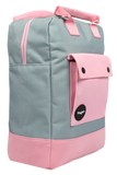 Pink and Grey Teen Backpack Side