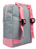 Pink and Grey Teen Backpack Back