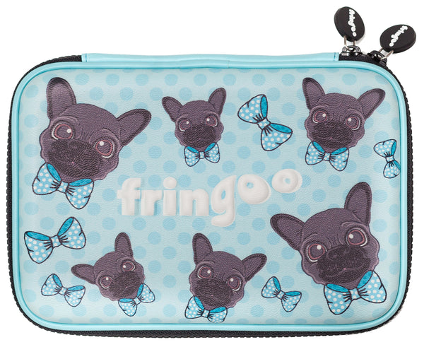Hardtop Pencil Case - Pug Dots
