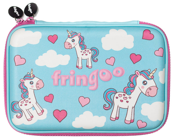 Hardtop Pencil Case - Unicorns & Clouds