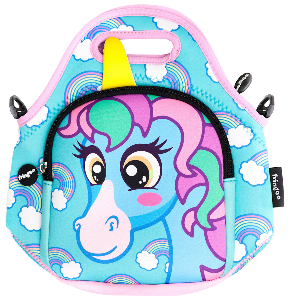 Kids Lunch Bag - Unicorn Blue