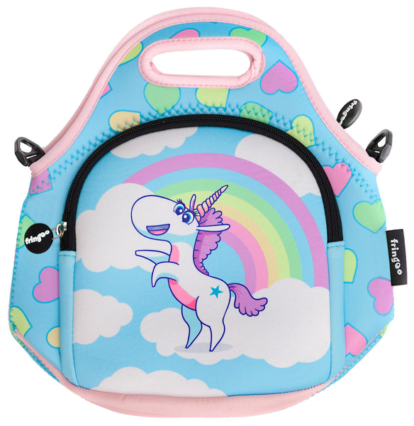 Kids Lunch Bag - Unicorn Rainbow Clouds