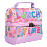 Retro Lunch Bag Donuts Lunch Time