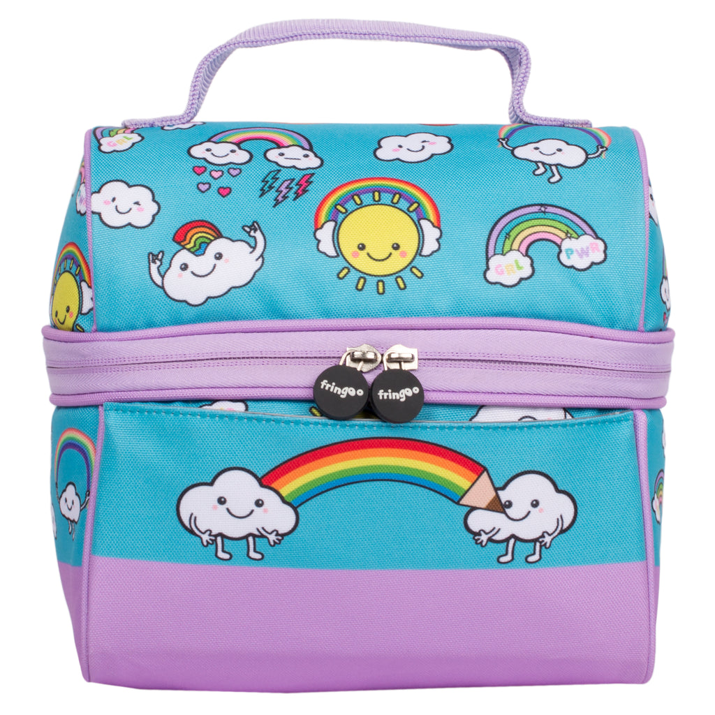 Retro Lunch Bag Donuts Rainbow World