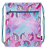 Customised Drawstring Bag - Pastel Unicorns