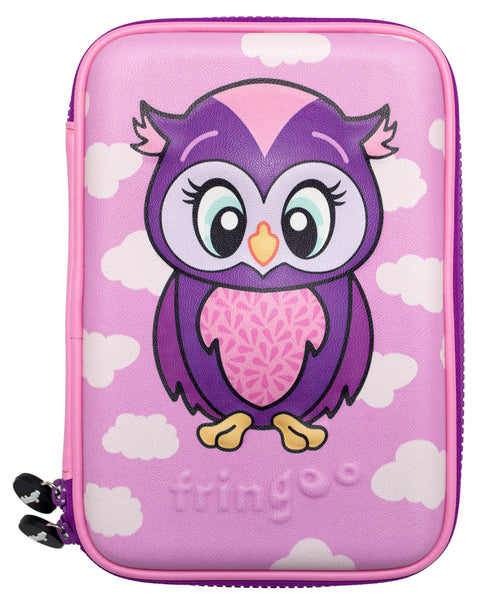 Hardtop Pencil Case - Owl