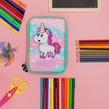 Hardtop Pencil Case - Pink & Turquoise Unicorn Star