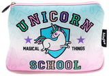 Large Printed Pencil Case - Unicorn School
